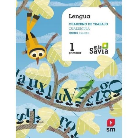 Cuaderno de Lengua 1EP. Proyecto Más Savia 1º trimestre VERSIÓN CUADRICULADA
